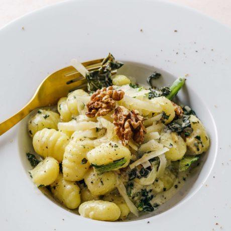 Gnocchi mit Spinat und Parmesan