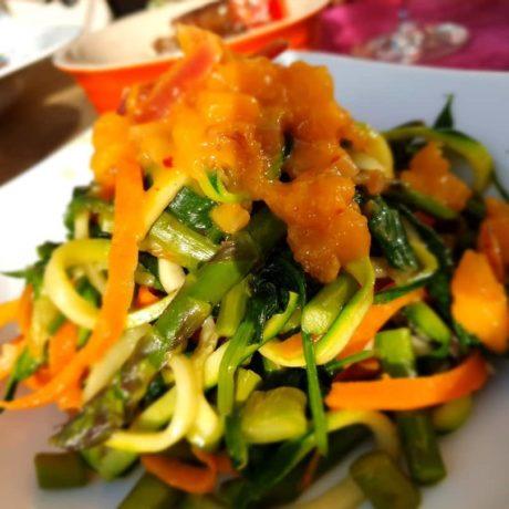 Karotten – Zucchini Nudeln