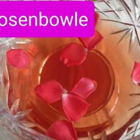 Rosenbowle mit Wein