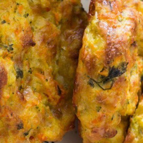 Kartoffel Gemüse Laibchen mit Käse