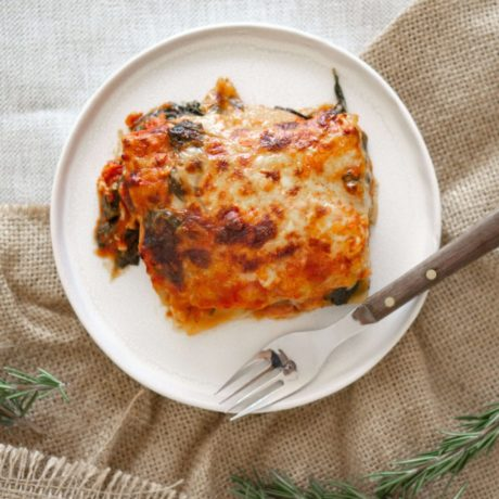 Bunte Fisch-Lasagne