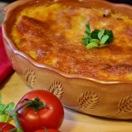 Erbsen-Zucchini-Lasagne