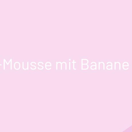 Rhabarber-Mousse mit Banane und Ingwer