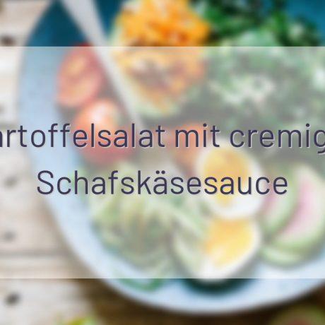 Kartoffelsalat mit cremiger Schafskäsesauce