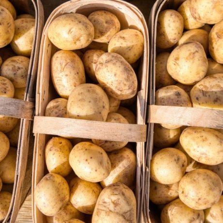 Bunte Kartoffel-Gemüse-Fächer