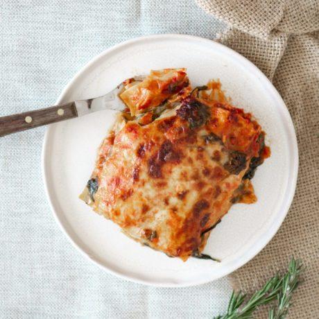 Lasagne mit Knoblauch