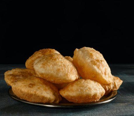 Puri – Frittierte Fladenbrötchen – vegan