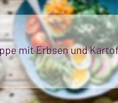 Indische Suppe mit Erbsen und Kartoffeln – vegan